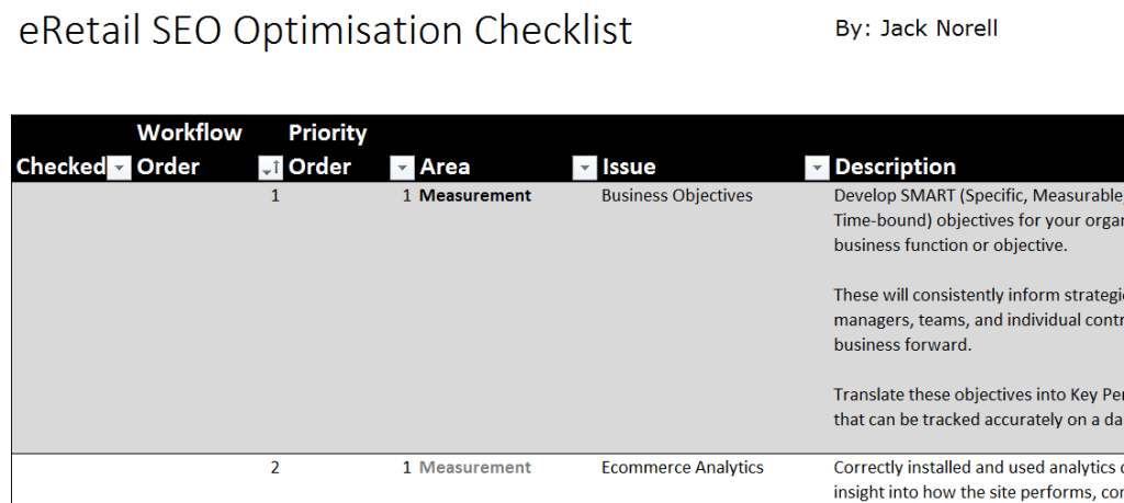 Download the eCommerce Optimisation Checklist