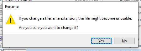 Windows dialogue box
